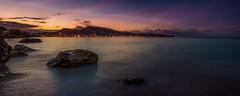 September sunset in Greece (nandris) Tags: clouds island pacific sea night cityscape orange blue sunrise greece d5100 longexposure nikon sunset