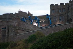 Filming of Transformers 5 at Bamburgh Castle - spotted the studio lighting (Tim Cunningham's Images) Tags: northumberland uk transformers5 hasbro paramount siranthonyhopkins markwahlberg bamburgh bamburghcastle