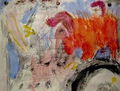 The Elves Of Anaheim: 1 (giveawayboy) Tags: pen crayon drawing sketch art acrylic paint painting fch tampa artist giveawayboy billrogers elf elves anaheim racing racecars mechanics urbanlegend elvesofanaheim