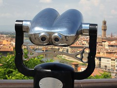 Undoubtedly the best Binocular view of Florence (B℮n) Tags: santa city summer vacation italy panorama holiday money hot streets tower art history classic weather museum del river gold florence italian topf50 europe italia gallery view bell maria churches tourist panoramic ponte campanile explore tuscany da vista firenze fl leonardo uffizi arno michelangelo viewpoint fiore toscane palazzo vinci piazzale renaissance oldest cultural degli brunelleschi vecchio florentine cathdral florijn bankers uffizimuseum giottos florin 50faves panview binoculaur