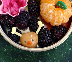 Comfort Chicken and Rice Bento closeup (sherimiya ) Tags: christmas school reindeer lunch kid healthy sheri sauerkraut delicious homemade meal mandarin bento rudolph blackberries satsuma obento quailegg wholesomelunchbox sherimiya