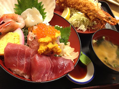 Set meal with seafood bowl / Takahashi (KMrT(1800mlph)) Tags: food bowl