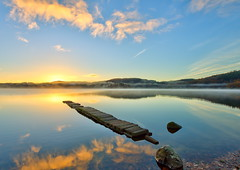 Reflections at Dawn (PeterYoung1.) Tags: uk nature sunrise reflections landscape scotland scenic atmospheric ard lochard kinlochard