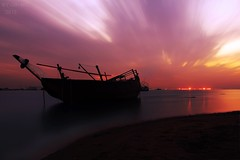 Sundrop (q8-mc) Tags: sunset sea sun seascape beach canon see canon5d kuwait scape q8 mkiii     q8mc byq8mc