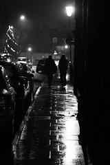 Dark walk (NeilSkinner01) Tags: cold wet rain night walking streetlight pair lincoln raining puddles