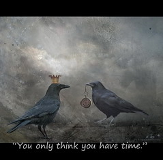 You only think you have Time (h.koppdelaney) Tags: life art digital photoshop lost greek ancient power maya symbol time god quote magic watch picture philosophy running mind flies demon crow metaphor raven zeitgeist limit psyche passes zeit symbolism psychology archetype chronos drängt koppdelaney
