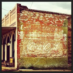 Coca-Cola ghost sign on Main Street (US-90) in downtown Flatonia, Texas (mollyblock) Tags: signs building sign architecture vintage square mainstreet texas coke squareformat signage cocacola us90 smalltown ghostsign ghostsigns flatonia wallads amaro wallad highway90 oldspanishtrail flatoniatx iphoneography mollyblock instagramapp uploaded:by=instagram foursquare:venue=4d22212fdd6a236a5e4e4538