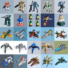 2012 Lego builds overview (Fredoichi) Tags: toys lego space military robots vehicles videogames micro scifi characters fighters sculptures mecha tanks mech skyfi starfighters microscale fredoichi