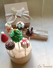 Cake-Pops Navideos (La Tanana) Tags: navidad vainilla bizcocho