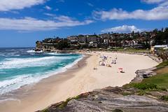 (MagdaBis) Tags: ocean blue sea summer vacation people hot beach water rocks day outdoor sydney australia omd olympusomd coggeetobondi