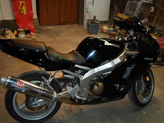2007 ZZR 600 with a Corbin Seat (jases10) Tags: 2005 black green leather bike sport seat 05 2006 pack 600 sportbike carbon fiber 06 gel 2007 corbin zx6r yoshimura zzr zzr600