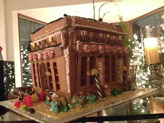 Carlu out of gingerbread (southofbloor) Tags: park food toronto college cake architecture scott gingerbread era architects weir iphone carlu