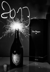 Bonne année 2013 / bloavezh mat 2013 (apophisnico) Tags: new light vintage champagne year newyear 1999 led lumiere bulle nouvelan année domperignon 2013 strobist domperignonvintage