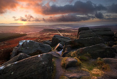 Sunrise Over Carl Wark (andy_AHG) Tags: rural sunrise outdoors rocks peakdistrict yorkshire scenic moors pennines newyearsday britishcountryside northernengland landscapephotography higgertor beautifullandscapes