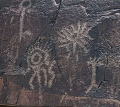 Petroglyphs / Little Petroglyph Canyon (Ron Wolf) Tags: california abstract panel nativeamerican petroglyph archeology chinalake anthropology rockart anthropomorph entoptic anthromorph cosoculture