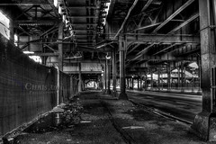 7 Trains - 03 BW HDR (Chris Adval) Tags: park new york city nyc travel chris light train photography natural meadows 7 queens productions hdr flushing adval