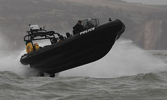 Hampshire Police RIB Protector (John Ambler) Tags: sea two sign by is call with mercury 4 police hampshire off 200 rib trials built mariner supercharged fitted verado fourstroke ribcraft 8mtr enginespolice needlesthis protectoron