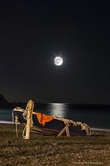 La Luce della Luna (Carmine Nicki Annunziata) Tags: light sea italy moon art beach night nikon italia mare luna nikkor notturna spiaggia notte luce costiera atrani amalfitana cialo d7000