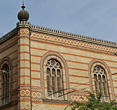 Budapest, Great Synagogue (elinor04 thanks for 22,000,000+ views!) Tags: street city building tower window architecture hungary great budapest synagogue style moorish jewish quarter utca architects gable jewishquarter 7thdistrict dohny erzsbetvros ludwigfrster frigyesfeszl feszlfrigyes