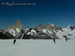 Skiing in the Patagonian Ice cap