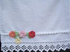 florzinhas de croch (Shalom Artesanato) Tags: de pano artesanato prato croch
