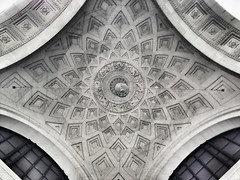 Enter the Death Star (SteadyHand) Tags: newyork abstract detail art mobile architecture death star ceiling flatiron app iphone whisperer 645pro three65 iphoneography uploaded:by=flickrmobile flickriosapp:filter=nofilter