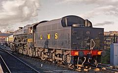 8233 At Kidderminster HR Scan (Deepgreen2009) Tags: heritage train loop railway steam preserved freight svr lms kidderminster 8f uksteam