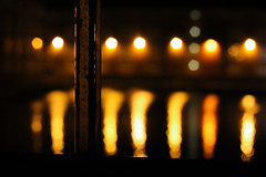 fireonthewater (trunbuns) Tags: light orange color colour reflection water yellow canon river fire flickr bokeh stockton teesside tees 2013 650d t4i trunbuns