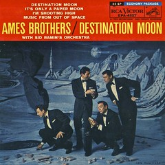 Destination Moon (Wires In The Walls) Tags: 45 cover single 1950s orchestra scanned 1958 rocketship tuxedos rcavictor exotica rpm midcentury spaceage destinationmoon amesbrothers sidramin epa4227