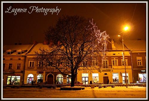 The Market Square in Jaslo, Poland