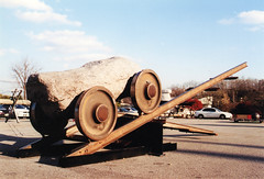 Train _ Train wheel, Stone, Steel _ Dimensions variable