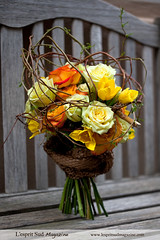 Hand-tied bouquet with a spring feel (Scrumptious Venus) Tags: wedding roses spring tulips romantic curlywillow floraldesign handtiedbouquet lespritsudmagazine wwwlespritsudmagazine lespritsudfloraldesign