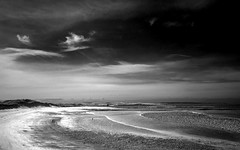 Lindisfarne (Ray Byrne) Tags: blackandwhite bw beach coast monotone northumberland shore holyisland lindisfarne raybyrne byrneoutcouk webnorthcouk