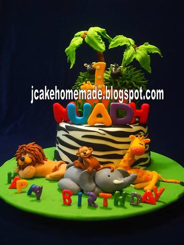 Remarkable Safari Birthday Cake A Photo On Flickriver Funny Birthday Cards Online Alyptdamsfinfo