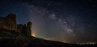 Nocturna en Los Mallos de Riglos (Huesca- Spain)