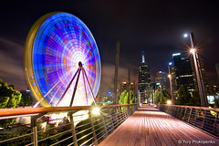 Giant Sky Wheel, Melbourne, Australia (renatonovi1) Tags: giantskywheel melbourne victoria vic australia night cityscape landscape longexposure