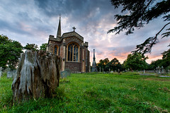 Frenchay church (shaunmartin366) Tags: frenchay church dusk graveyard treetrunk canon1740mmf4 canon6d