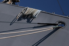 San Francisco - Ropes (Drriss & Marrionn) Tags: sanfrancisco california travel blue sky usa dock ship waterfront outdoor ships navy bluesky rope fishermanswharf ropes usnavy libertyship pier45 ssjeremiahobrien