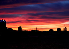 Sunset over Northeast Philly (Paul Rudderow- Jersey Shooter) Tags: camden newjersey ussnewjersey newyears night delawareriver philadelphia sunset