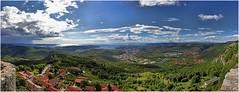 veduta da socerb slovenja copia (Giorgio Serodine) Tags: alberi montagne mare case porto cielo panoramica colori castello trieste colline golfo citta orizzonte slovenja muraglia socerb