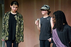 Dogberry, Verges, and Conrade (rachel.roze) Tags: youthshakespeareproject hanover muchadoaboutnothing costumes play performance locky evelyn elijah dogberry conrade verges august2016