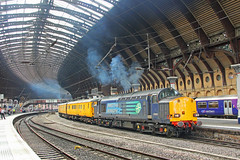 37605 - York (Tommy's Railway Photos (formerly 96tommy)) Tags: 37605 drs uk gb great britain united kingdom england photo photography transport transportation york railway train station direct rail service services class 37 thrash clag steam smoke tractor flickr 96tommy