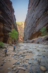 Zion National Park - The Narrows (R. Zavala) Tags: zionnationalpark utah narrows virginriver canyon hiking camping river wilderness wideanglelens canon canont2i