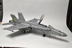 F-18C Hornet WIP (7) (Dornbi) Tags: lego f18 hornet mcdonnell douglas aircraft fighter