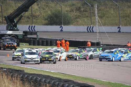 Clio Cup Action at Rockingham, August 2016