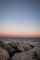 Majorca sunset (Mark James Griffiths) Tags: colour moon sea sunset 2016 calabona holiday majorca sonservera illesbalears spain es