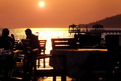Summer evening (R_Ivanova) Tags: summer sunset sun sky sea seaside water silhouette relax holidays sony rivanova