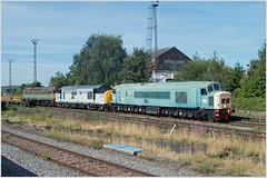 British Rail Remembered (Resilient741 Photography) Tags: 37227 45112 47488 br green blue grey british rail train loco locomotive burton upon trent nemesis railways rails class 37 45 47