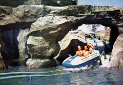 Riding the Matterhorn, 1960 (Tom Simpson) Tags: vacationland vintage 1960 1960s disney vintagedisney disneyland matterhorn rollercoaster