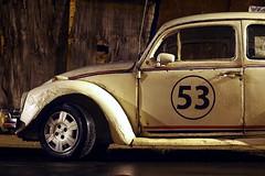 Herbie, after a night out (AdrianoSetimo) Tags: thelovebug semeufuscafalasse volkswagen beetle fusca canonfd canonfd50mm14ssc longexposure longaexposio olympusomdem10 olympusem10 herbie carocha fuca fuque funascar besouro kfer carro car